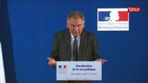 """François Bayrou : """"Il y aura nécessairement trois projets de loi : une loi ordinaire une loi organique et une loi constitutionnelle"""""""
