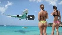 Boeing 747 Jumbo Το απίστευτο Αεροδρόμιο του Αγίου Μαρτίνου στην Καραϊβική! Airpoirt St Maarten Bikini GIRLS ✱ Force of aircraft engines ✱ Boeing 747✱Airbus