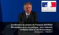 François Bayrou, pour redonner confiance dans la vie démocratique - Chancellerie - 010617