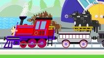 Caricaturas de Trenes - Aprende los formas de regalos - Dibujos Animados Educativos Para Niños