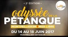 L'Odyssée de la pétanque à Montpellier du 14 au 18 juin avec les Boulistenautes