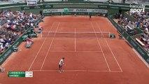 Roland-Garros 2017 : Pablo Carreno Busta envoie tout sur son coup droit (7-5, 1-0)