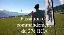 27e BCA : Le colonel Vola s'en va, le lieutenant-colonel  Vallançon arrive