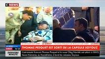 Regardez la conversation entre Emmanuel Macron et Thomas Pesquet juste après son retour sur Terre