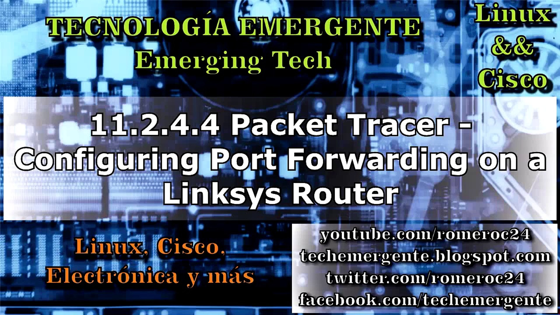 9 2 4 4 - 11 2 4 4 Packet Tracer - Configuring Port Forwarding on a Linksys  Router