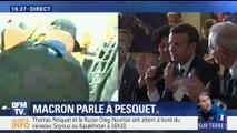 emission speciale : Emmanuel Macron fier de Thomas Pesquet , ven 2 juin