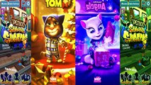 Kids cartoons My Talking Angela vs Talking Tom and Subway surf Colors Level 63 animated series,Cartoons animated anime game 2017