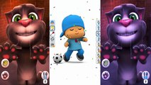 New animated series Talking Tom and Talking Pocoyo Colours Games for Kids - HD cartoons ep.6,Cartoons animated anime game 2017