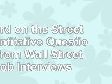 read  Heard on the Street Quantitative Questions from Wall Street Job Interviews 82d12e8a