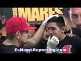 leo santa cruz vs abner mares leo and team get ready - EsNews Boxing
