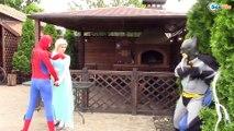 EVIL SPIDERMAN vs Frozen Elsa /w Bad Baby Elsa vs Bad Baby Anna Superhero Fun