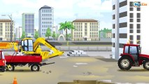 Carros para niños - Carritos para niños - La zona de construcción - Coches y Camiones - Excavadoras