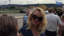 Pamela Anderson manifeste au Luc contre la présence d'animaux sauvages dans les cirques