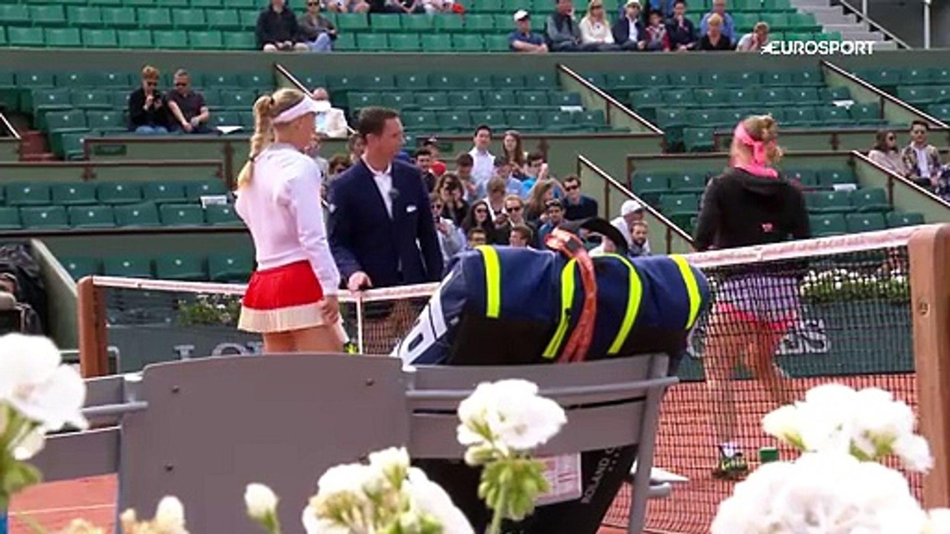 Roland Garros: Caroline Wozniacki - Svetlana Kuznetsova (Özet)