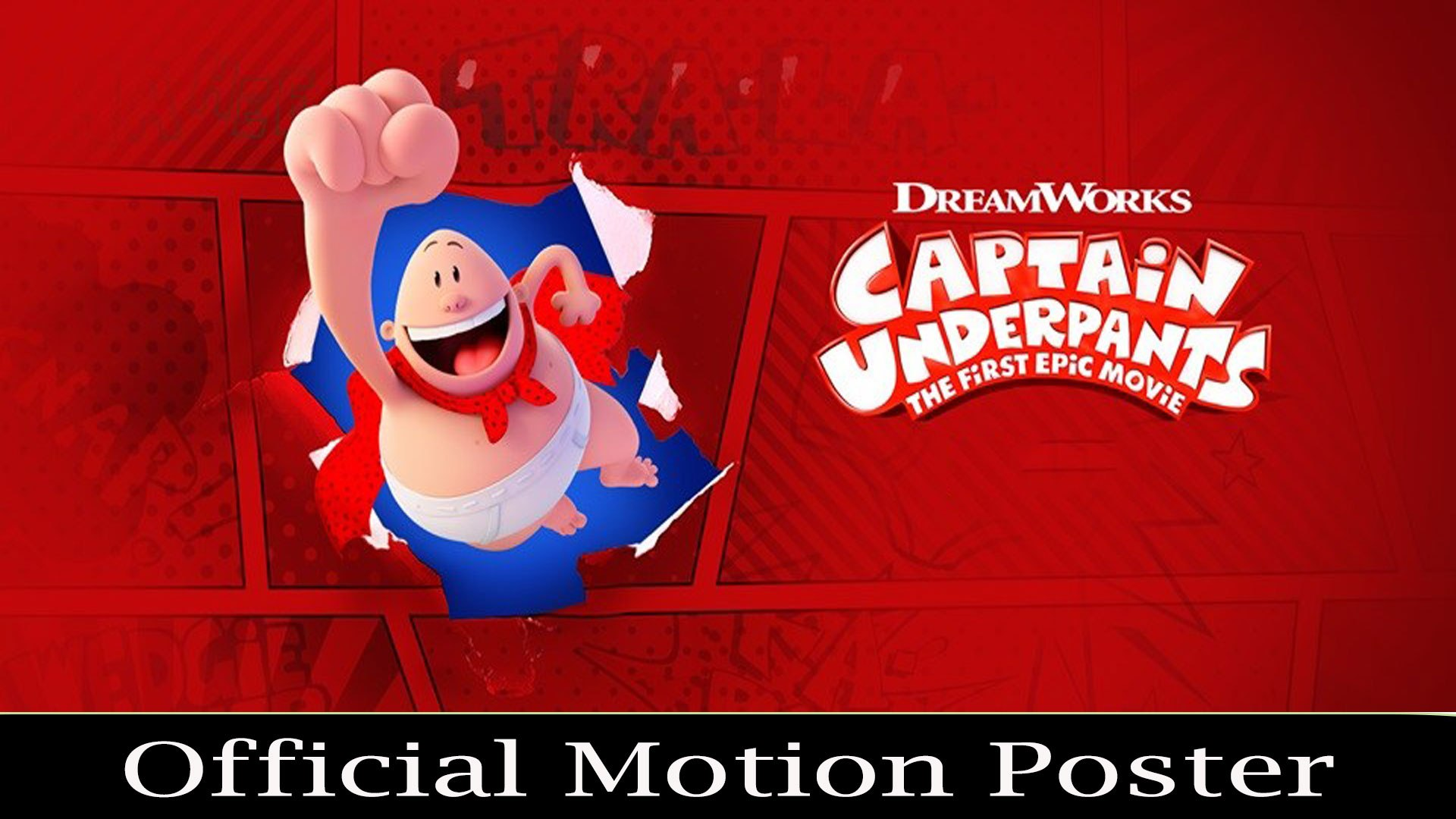 Captain Underpants The First Epic Movie | Official Motion Poster | Kevin Hart, Ed Helms & David