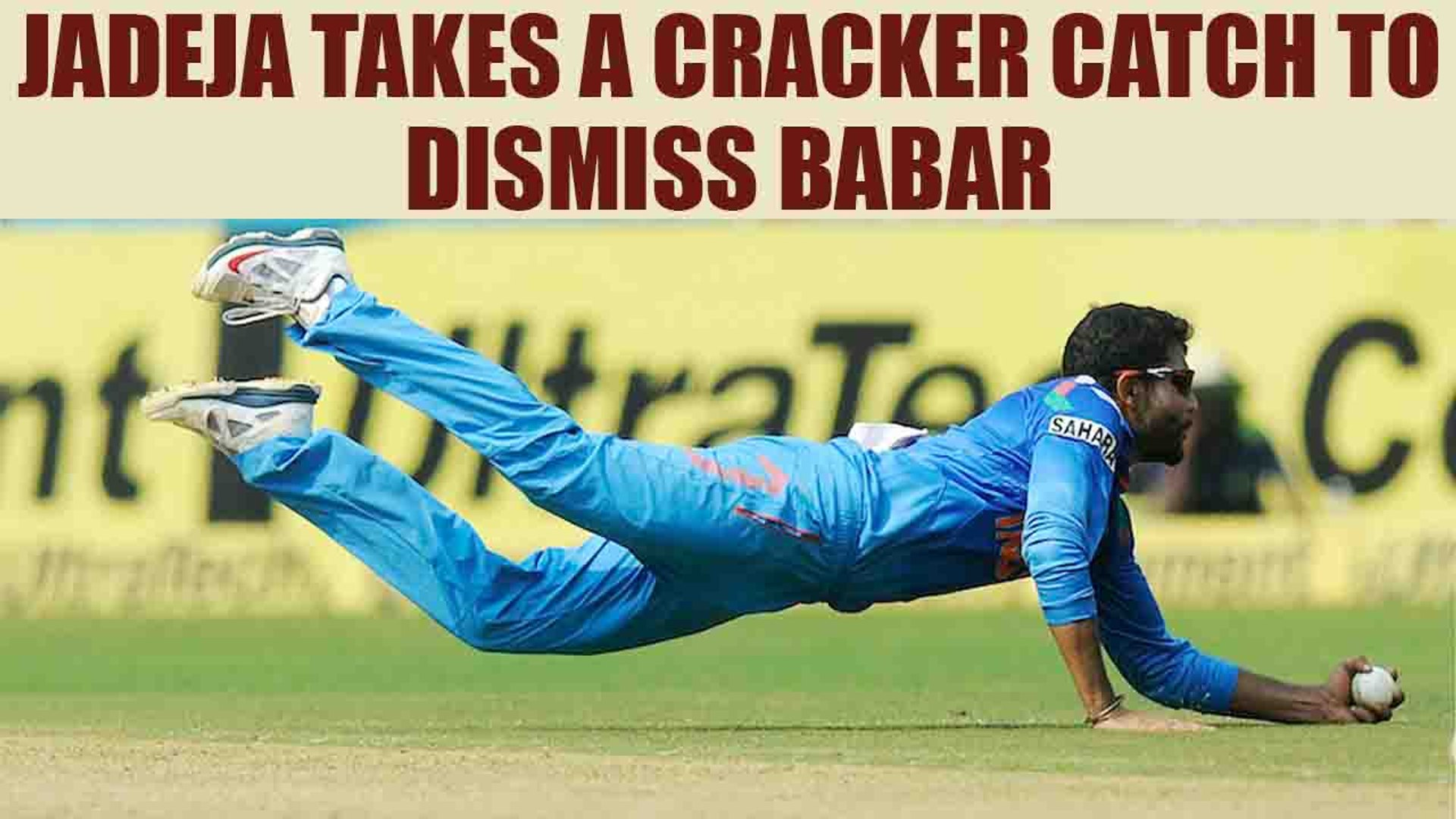 ICC Champions Trophy : Ravinder jadeja's brilliant catch to get Babar Azam's Wicket | Onei
