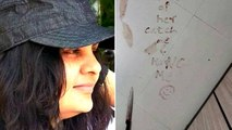 A Kid Took His Own Mothers Life and draws A Smiley From Her Blood