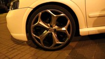 WHITE MATTE OPEL ASTRA G  CABRIO oxigin wheels  R1