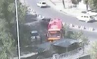 Surveillance Footage Shows Kabul Truck Bomb Explode