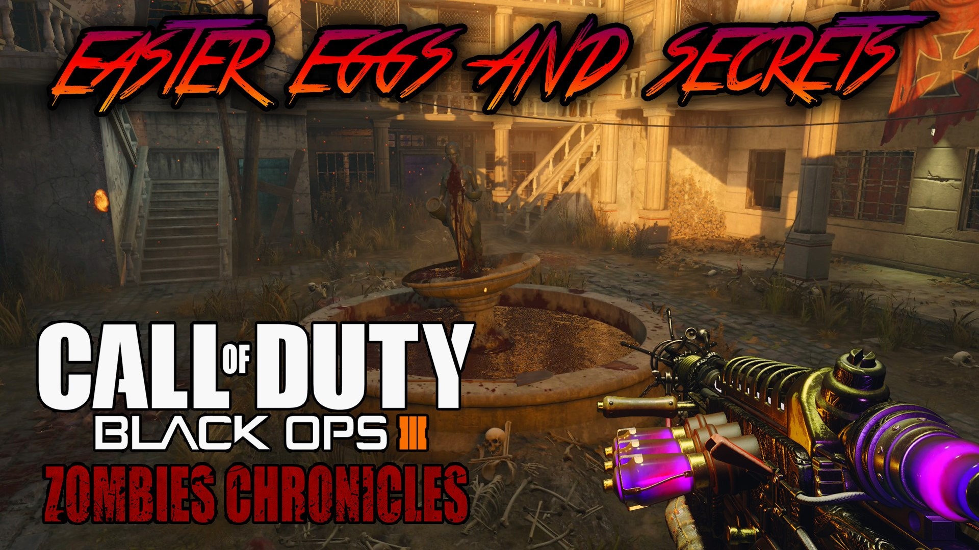 VERRUCKT - ALL EASTER EGGS AND SECRETS WALKTHROUGH (Black Ops 3 Zombies  Chronicles)