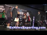 Noemi Bosques vs Heather Hardy Weigh In & Faceoff - EsNews Boxing