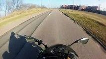 Kawasaki ninja 636 w(going 257 Km_h !)