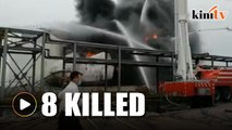 8 killed in chemical plant explosion in China