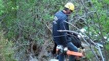Accident mortel de Jausiers : les restes de la caravane accidentée hélitreuillés du col de Restefond
