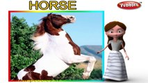 Horse | 3D animated nursery rhymes for kids with lyrics | popular animals rhyme for kids | Horse song | Animal songs | Funny rhymes for kids | cartoon | 3D animation | Top rhymes of animals for children