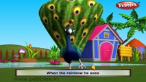 Peacock | 3D animated nursery rhymes for kids with lyrics  | popular Birds rhyme for kids | Peacock song | bird songs |  Funny rhymes for kids | cartoon  | 3D animation | Top rhymes of bird for children