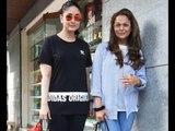 Kareena Kapoor Khan and Amrita Arora salon session in Bandra