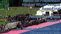 France-Canada : Matchs De Préparation à la Hockey World League Semi Finales