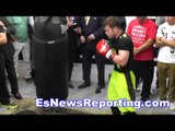 canelo alvarez punches sound like gun shots - esnews boxing
