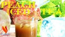 Peach Iced Tea | Homemade Sweet Peach Iced Tea Recipe | How To Make Fruity Peach Iced Tea
