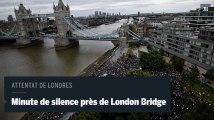 Attentat de Londres : au pied de London Bridge, une minute de silence en hommage aux victimes