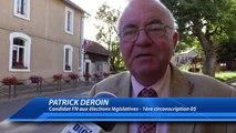 Hautes-Alpes : le candidat FN Patrick Deroin veut défendre son pays à l'Assemblée Nationale