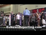 Frankie Gomez vs Humberto Soto weigh in and faceoff - esnews boxing