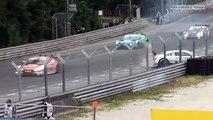DTM Norisring 2017 - Gary Paffett and Mike Rockenfeller Horror Crash Grandstand view