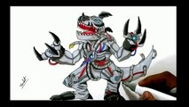 Crazy Art -  How to Draw -  Digimon -  Digimon Drawing -  Digimon draw - Drawing - 2017