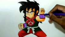 Crazy Art -  How to Draw - Kid Yamcha from - Dragonball z -  How to draw person -  from Dragonball z