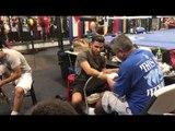 Robert Garcia & Billy Dib Getting Ready To Fight On Mikey Garcia Undercard