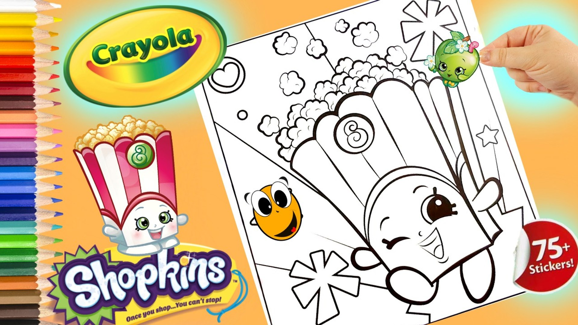 Coloring Shopkins Poppy Corn Crayola Coloring Book Page Colored