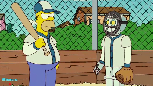 The Simpsons - Robots try to kill Homer
