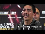 Leo Santa Cruz talks great victory over Eric Morel