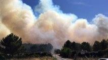 Départ de feu à Saint-Cannat, des habitants évacués