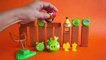En colère des oiseaux Jeu dans frappe vie sur en jouant réal examen jouet déballage bois Action de jeu
