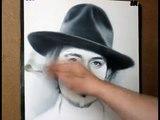Brosse par par dessin sec dans Vitesse Johnny depp portrait technique igor kazarin