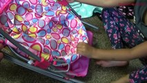 Et poupées filles rose récréation landau poussette poussette jouet déballage Quinny surprise |