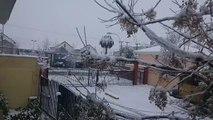 Snow Falls in Santiago in Rare Winter Cold Snap