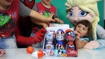 Balón colores huevos huevos huevos alegría Niños Aprender hombre araña historia súper sorpresa juguete juguetes elsa